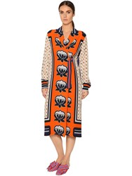 Stella Jean Printed Silk Crepe De Chine Light Coat