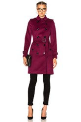 Burberry London Trench Coat In Pink Purple Pink Purple