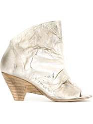 Marsa Ll Peep Toe Sandals Metallic