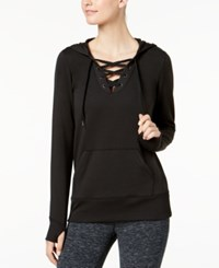 Ideology Lace Up Hoodie Created For Macy's Noir