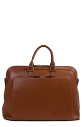 Lodis 'Audrey Brera' Leather Briefcase Brown Toffee Chocolate