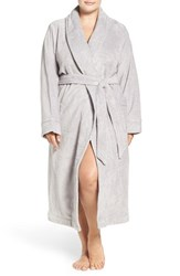 Nordstrom Plus Size Women's Lingerie Terry Velour Robe Grey Micro