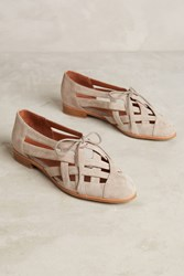 Anthropologie Jeffrey Campbell Canela Woven Oxfords Taupe