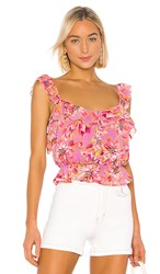 Astr The Label Sherri Top In Pink. Lavender And Pink Floral