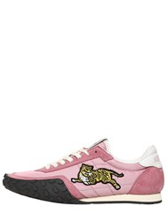 Kenzo 20Mm K Move Nylon And Suede Sneakers Pink