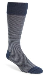 Men's Nordstrom Feeder Stripe Socks Blue Navy