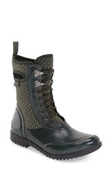 Bogs Women's 'Sidney Cravat' Lace Up Waterproof Boot Dark Green Multi