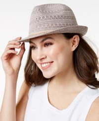 Inc International Concepts Crochet Packable Fedora Only At Macy's Tan