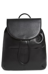Bp. Drawstring Faux Leather Backpack Black