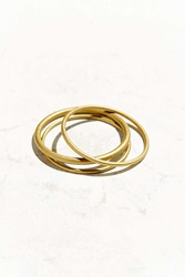 Urban Outfitters Olympic Rings Bangle Bracelet Set Gold
