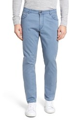 Brax Chuck Flat Front Stretch Cotton Pants Sky Blue