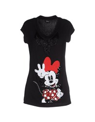 Disney Topwear T Shirts Women Black