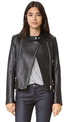Nour Hammour Salvation Motorcycle Leather Jacket Black