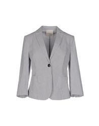 Gold Case Suits And Jackets Blazers Women Grey