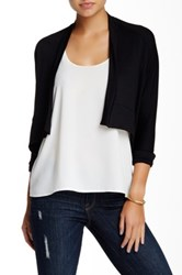 Riller And Fount Long Sleeve Cropped Cardigan Black