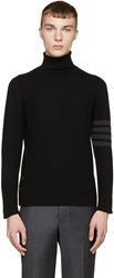 Thom Browne Black Cashmere Armband Turtleneck