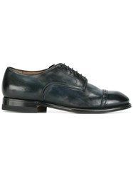 Silvano Sassetti Perforated Detailing Derbies Blue