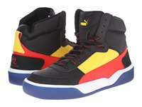 Puma Mcq Brace Mid Black Vibrant Yellow Flame Scarlet Men's Shoes