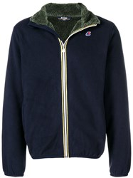 K Way Zipped Polar Jacket Blue