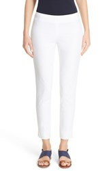 Lafayette 148 New York Women's 'Stanton' Slim Leg Ankle Pants White