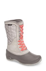 The North Face Women's Thermoball Tm Utility Waterproof Boot Dove Grey Calypso Coral