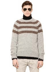 Cycle Striped Wool Blend Sweater Grey Beige