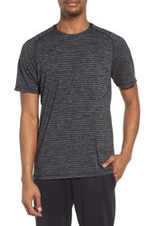 Zella Stripe Crewneck T Shirt Grey Zinc Stripe