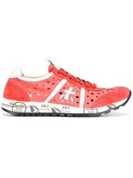 Premiata White Lucy Sneakers Red