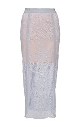 Alice Mccall Florence Lace Skirt With Slip Light Blue