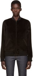 A.P.C. Black Norma Bomber Jacket