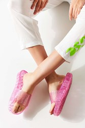 Urban Outfitters Uo Jelly Pool Slide Pink