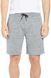 Zella Pyrite Knit Shorts Grey Wolf Melange