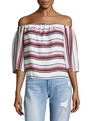 Lucca Couture Striped Off The Shoulder Top