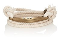 Giles And Brother Rope Wrap Bracelet White