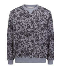 Derek Rose Floral Print Sweatshirt Male Grey