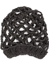 Lost And Found Ria Dunn Holey Knit Beanie Linen Flax Grey