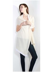 Johnstons Of Elgin Cashmere Gauzy Waterfall Wrap Neutral