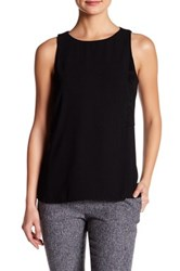 Catherine Malandrino Crepe And Faux Suede Combo Tank Black