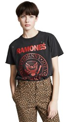 R 13 R13 Ramones Boy Tee Washed Black