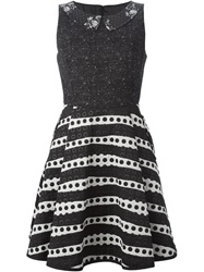 I'm Isola Marras Peter Pan Collar Flared Dress Black