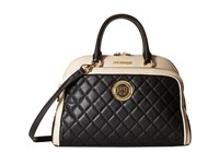 Love Moschino Medium Classic Quilted Handbag Black White Handbags