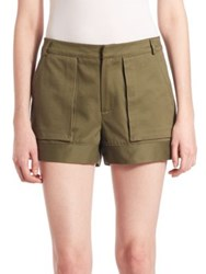 Prose And Poetry Ari Four Pocket Cotton Cargo Shorts Army Cotton Twill