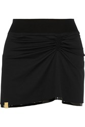 Monreal London Stretch Jersey Mini Skirt Black
