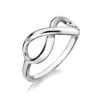 Hot Diamonds Infinity Ring Silver