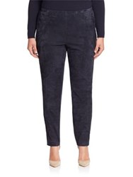 Lafayette 148 New York Punto Milano Suede Front Leggings Ink