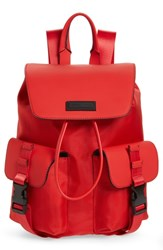 Kendall Kylie Parker Water Resistant Backpack Red