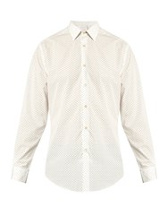 Paul Smith Clubs Print Cotton Poplin Shirt Cream Multi