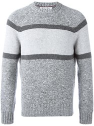Brunello Cucinelli Tonal Crew Neck Jumper Grey