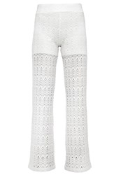 Anna Field Trousers Offwhite Off White