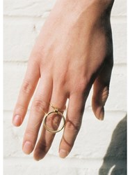 Maria Francesca Pepe H Oops Three Ways Double Ring Gold